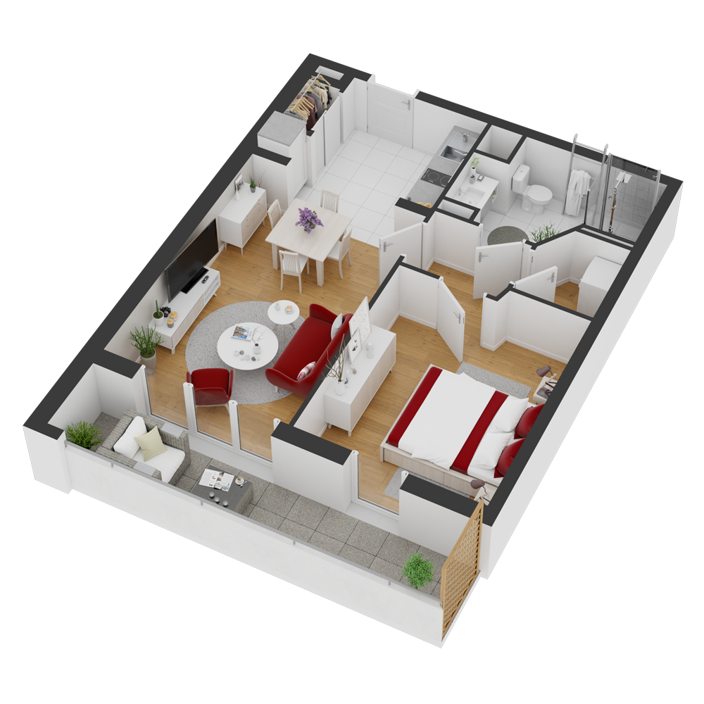 Plan appartement sénioriales Nantes